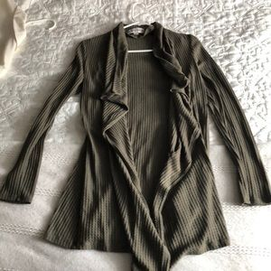 Olive green Knox Rose cardigan